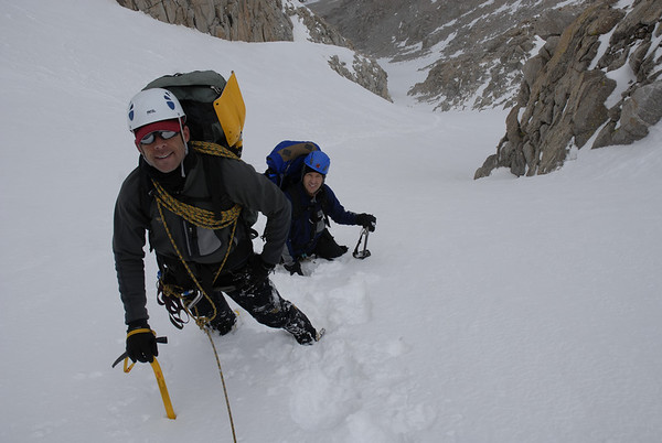 Rick & Brian on the NE Couloir of Mt. Langley