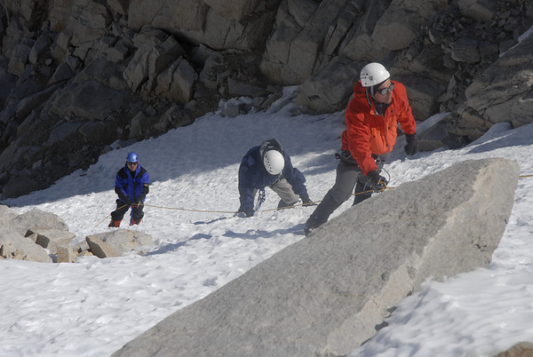 Ralph, Bill, and John on the last pitch of the Mountaineers Route