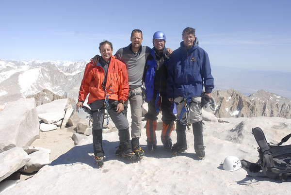 Ralph, Kurt, John, and Bill on the summit of Mt. Whitney