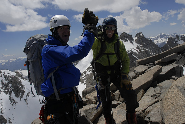 High five on the summit of Mt. Sill!