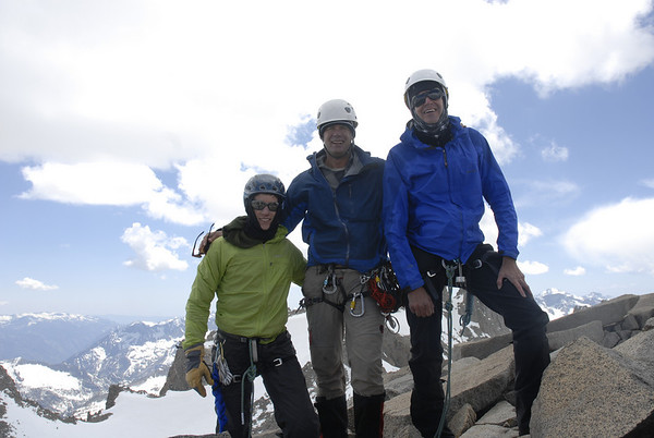 Summit photo.  Left to right:  Dustin Wunderlich, Kurt Wedberg, Chuck Raper.