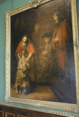 The most famous painting in the Hermitage Museum is Rembrandts Return of the Prodigal Son