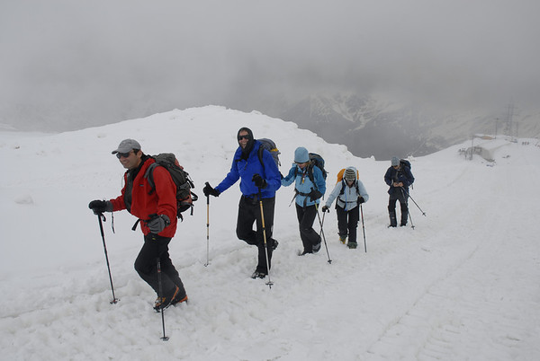 Acclimatization hike on Mt. Elbrus